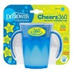 Dr Brown\'s Milestones Cheers 360ο Κύπελλο Εκπαίδευσης με Λαβές & Σύστημα Κατά των Διαρροών TC71004 Μπλε, Από 6 Μηνών 200ml