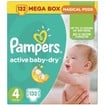 Active Baby Dry Mega Box No4 (8-14kg) 132 πάνες - Pampers