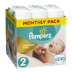 Pampers Premium Care Monthly Pack No2 (3-6kg) 240 πάνες, μόνο 0,17€ / πάνα