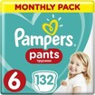 Pampers Pants Montly Pack No6 (15+kg) 132 πάνες