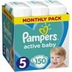 Pampers Active Baby Πάνες Monthly Pack No5 (11-16 kg) 150 Πάνες