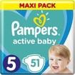 Pampers Active Baby Πάνες Maxi Pack No5 (11-16 kg), 51 Πάνες