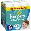 Pampers Active Baby Monthly Pack Νο6 (13-18 kg) 124 πάνες