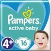 Pampers Active Baby Νο4+ (10-15 kg) 16 πάνες