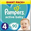 Pampers Active Baby Giant Pack Νο4 (9-14 kg) 90 πάνες