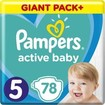 Pampers Active Baby Πάνες Giant Pack No5 (11-16 kg), 78 Πάνες