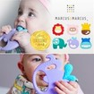 Marcus & Marcus Sensory Teether Lola Βρεφικό Μασητικό Σιλικόνης, Κρίκος Οδοντοφυΐας 5 Αισθήσεων, από 6 Μηνών