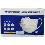 Hanvico Premium Χειρουργικές Μάσκες Προσώπου μιας Χρήσης 4ply με Λάστιχο και Μεταλλικό Έλασμα 50 τεμάχια