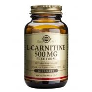 Solgar L-Carnitine 500mg Συμπλήρωμα Διατροφής που Βοηθά τη Καρδιαγγειακή Υγεία & Μετατρέπει τα Λιπαρά Οξέα σε Ενέργεια tablets