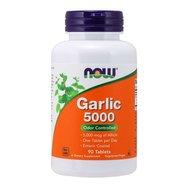Now Foods Garlic 5000 Συμπλήρωμα Διατροφής Άοσμου Σκόρδου, Αντιμετώπιση της Χοληστερόλης & Υποστήριξη Καρδιαγγειακού 90 Tabs