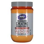 Now Foods Creatine Monohydrate, Micronized Powder Συμπλήρωμα Διατροφής για Μείωση Κόπωσης & Προαγωγή Κυτταρικής Ενέργειας 500gr