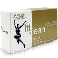 Power Health Fit & Lean For Active Slimming Διπλό Συμπλήρωμα Διατροφής για Αδυνάτισμα 30+30caps