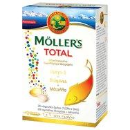 Moller's Total Ολοκληρωμένη Φόρμουλα με Κάψουλες Ωμέγα-3 & Ταμπλέτες με Βιταμίνες, Μέταλλα & Ιχνοστοιχεία 28caps & 28tabs