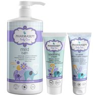 Pharmasept Промо комплект Baby Care Mild Bath 1Lt & Tol Velvet Baby Soothing Cream 150ml & Baby Extra Calm Cream 150ml