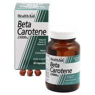Health Aid Beta Carotene 23.000i.u Για Καλή Όραση Δυνατά Οστά Δέρμα Μαλλιά δόντια 30κάψουλες