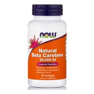 Now Foods Natural Beta Carotene 25.000 IU Συμπλήρωμα Διατροφής, Ενισχύει την Υγεία Ματιών & του Δέρματος 90 softgels