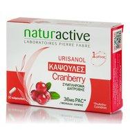 Naturactive Urisanol Cranberry Συμπλήρωμα Διατροφής με Εκχύλισμα Κράνμπερι για την Υγεία του Ουροποιητικού 30caps