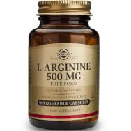 Solgar L-Arginine Συμπλήρωμα Διατροφής με Αργινίνη για τη Παραγωγή Ενέργειας στους Μύες veg caps