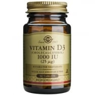 Solgar Vitamin D3 Συμπλήρωμα Διατροφής για την Ομαλή Απορρόφηση του Ασβεστίου απο τον Οργανισμό & την Ενίσχυση του Ανοσ/κου tabs