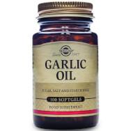 Solgar Garlic Oil Συμπλήρωμα Διατροφής με Αντιβακτηριακές Ιδιότητες, Χρήσιμο Βοήθημα για τη Μείωση της Υψηλής Πίεσης 100softgels