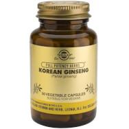Solgar Korean Ginseng Συμπλήρωμα Διατροφής Ισχυρό Τονωτικό Ιδιαίτερα Χρήσιμο σε Αθλητές & Δραστήρια Άτομα 50veg.caps