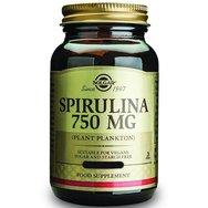 Solgar Spirulina 750mg Συμπλήρωμα Διατροφής για την Ενίσχυση του Οργανισμού, Πλούσιο σε Πρωτεΐνες 80 Caps